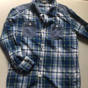 Lands' End Kids flannel shirt Size L 14-16